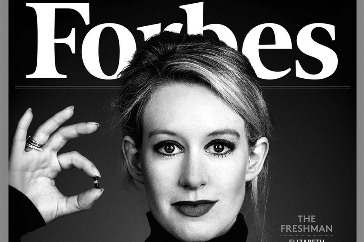 Theranos CEO Elizabeth Holmes on the cover of Forbes magazine