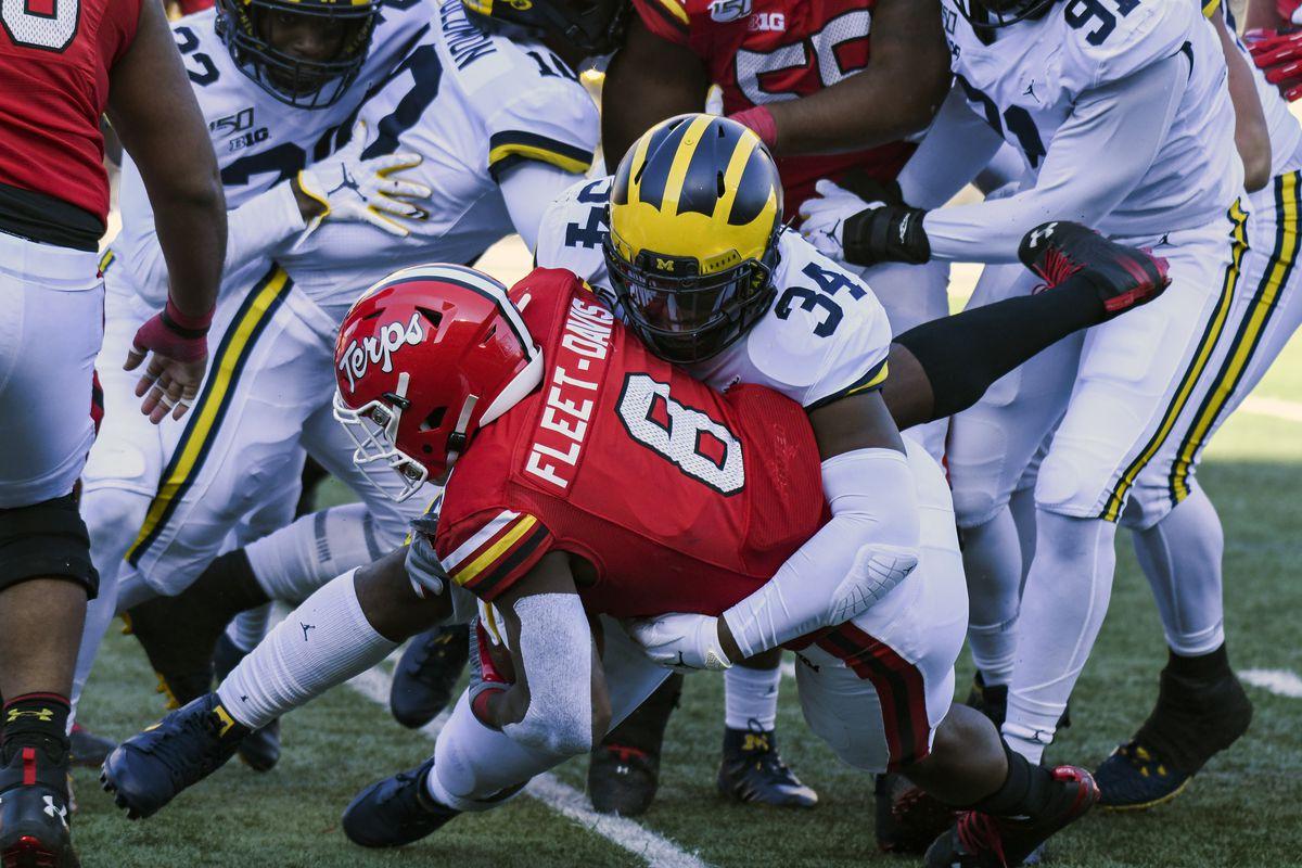 COLLEGE FOOTBALL: NOV 02 Michigan at Maryland