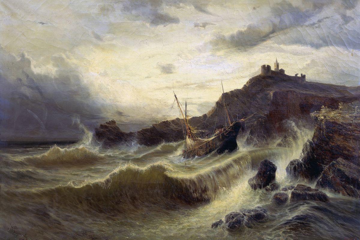 A rough sea at Porto Venere...