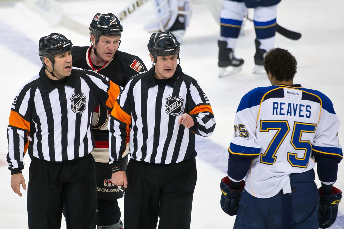 """""""Man, you sure are lucky these officials are holding me back..."""""""