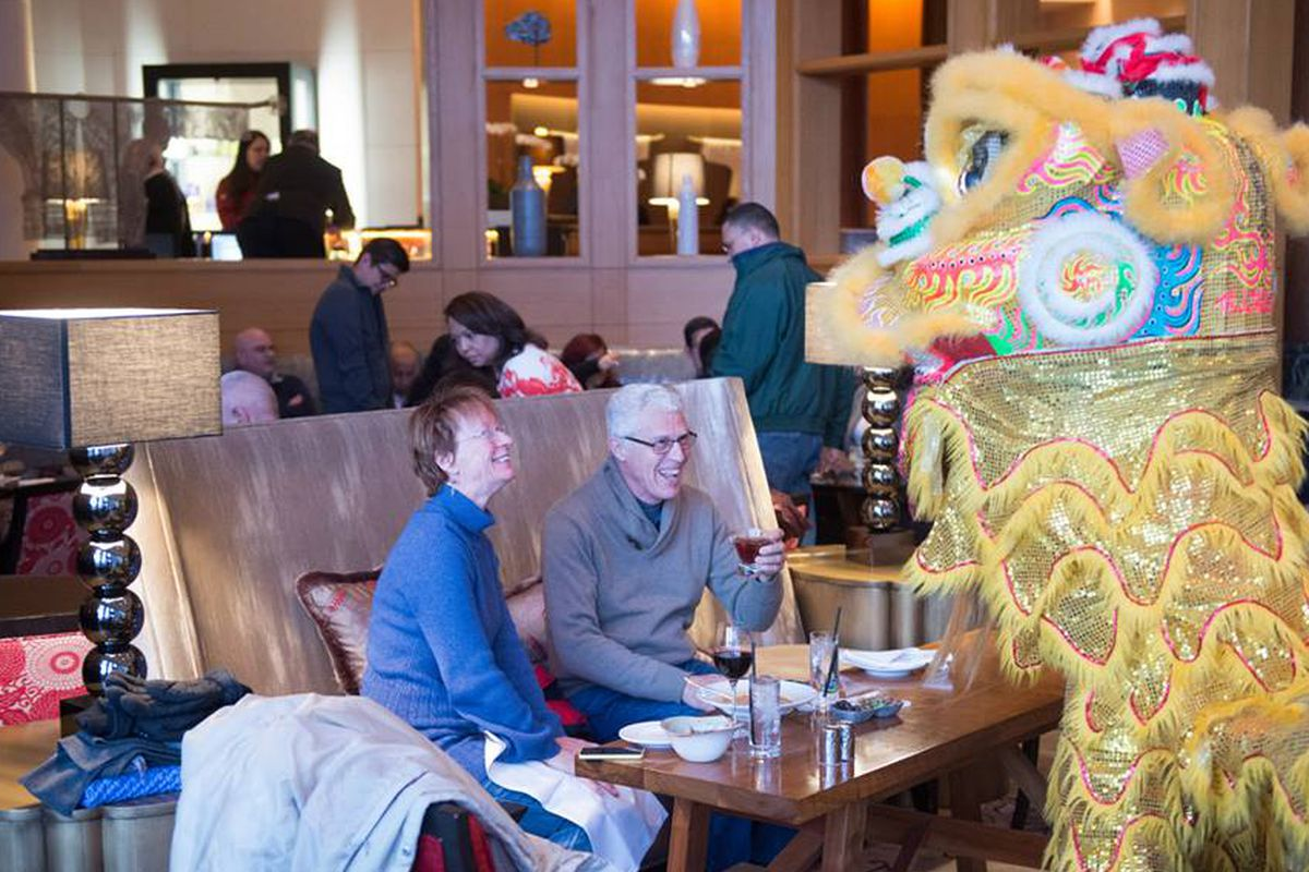 The Empress Lounge during Chinese New Year.