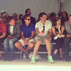 Wildfox CEO Jimmy Sommers to the left of Scott Disick