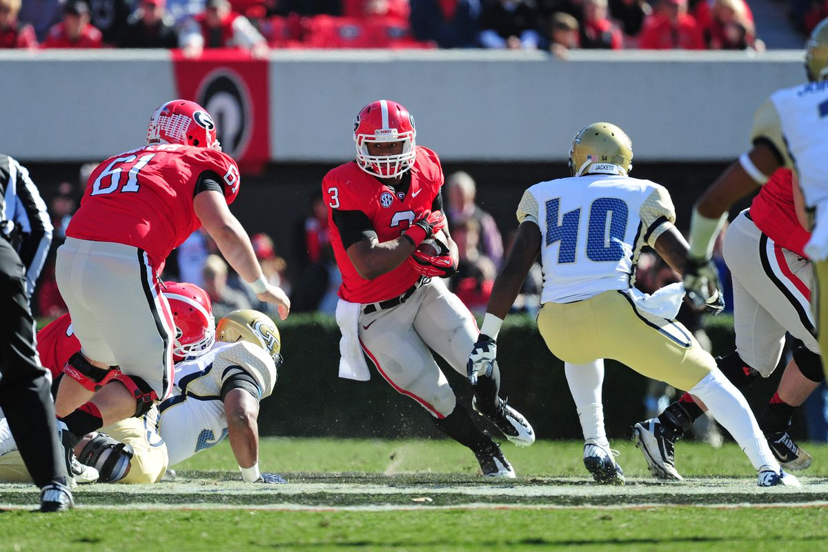 Georgia Tech vs  Georgia 2012 final score: Bulldogs blow out