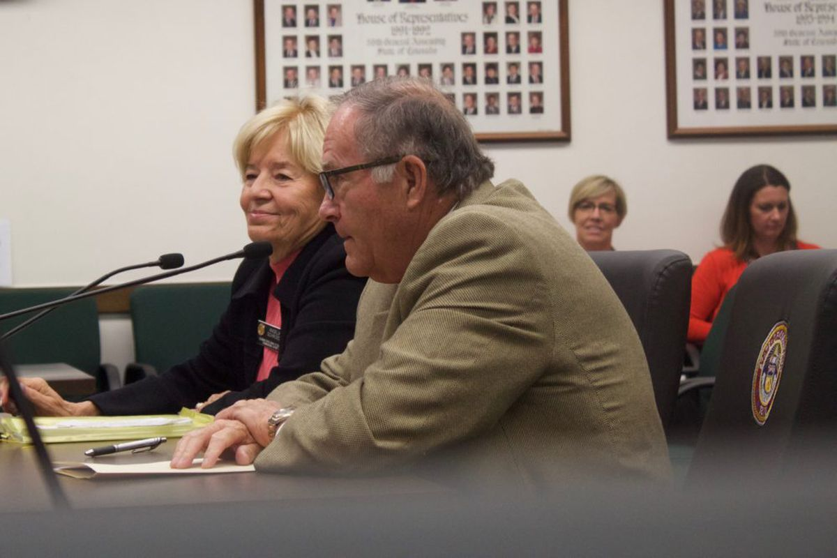 State Board of Education members Angelika Schroeder and Steve Durham met with lawmakers to discuss the nation's new education law.