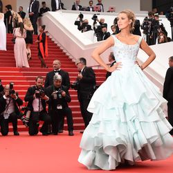 Blake Lively wears Vivienne Westwood couture at a screening for 'Ma Loute (Slack Bay).'