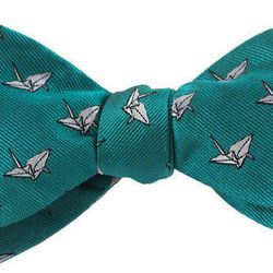 "Origami bow tie, <a href=""http://www.bullandmoose.com/products/origamibow"">$25</a>"