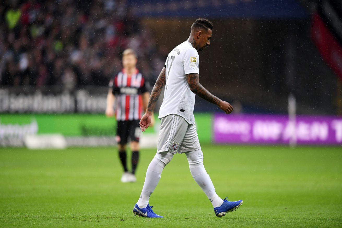 Bayern Munich?s Jerome Boateng suspended for two Bundesliga games following his red card against Eintracht Frankfurt