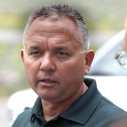 Wasatch County Sheriff Todd Bonner talks about the drowning of Kalem Franco, 17, of Heber City, while swimming toward the island in 55 degree water at Deer Creek Island Beach during  a family outing at Deer Creek Reservoir Wednesday, June 29, 2011, in Wasatch County near Heber City.