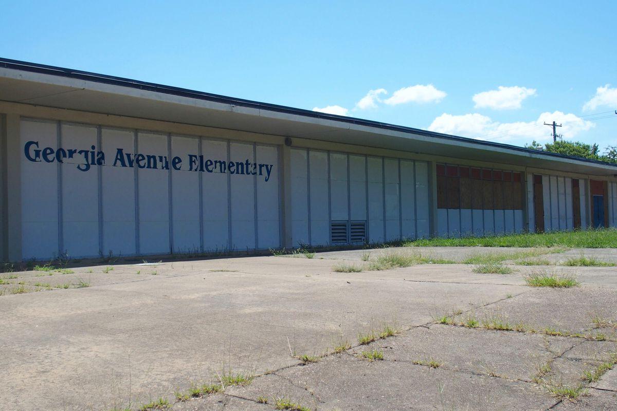 Georgia Avenue Elementary School closed in 2012, pictured here in 2019.