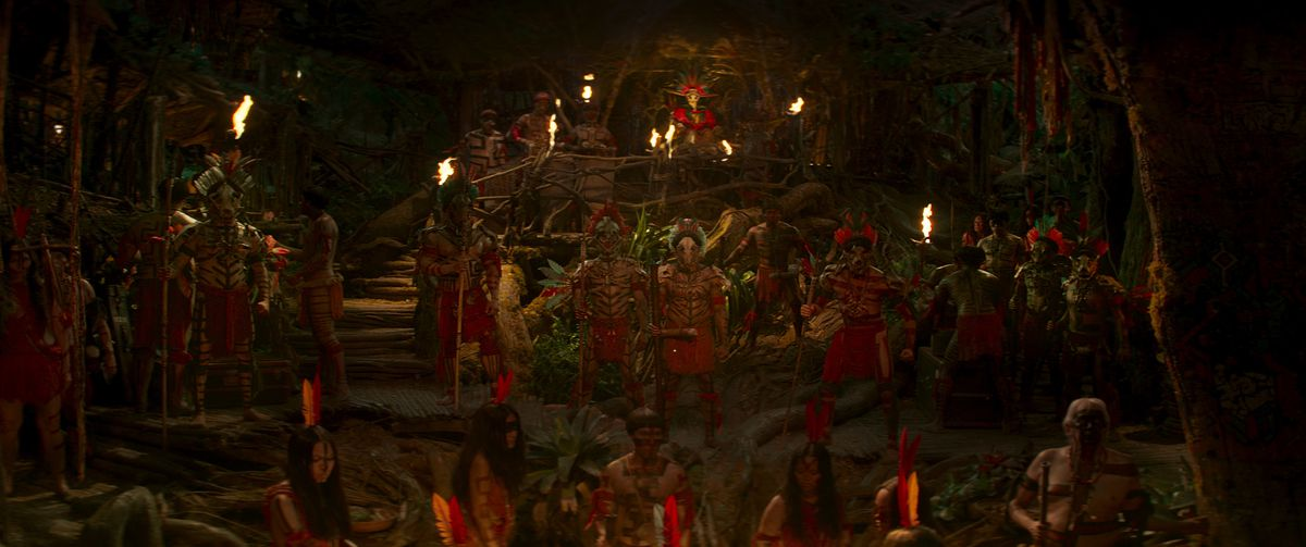 a tribe of indigenous people as seen in jungle cruise
