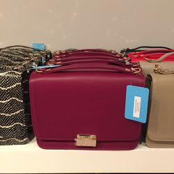 Taylor satchel, $225, originally $375