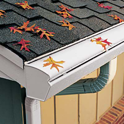 Leaf Guard Gutter With Aluminum Hood And Curved Lip