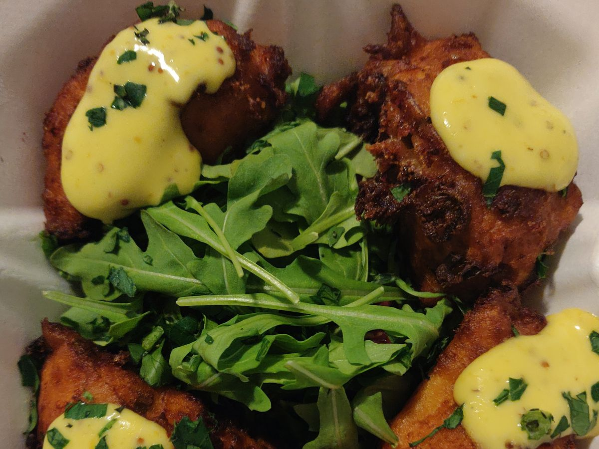 Sweet potato parmesan fritters from Glenville Stops