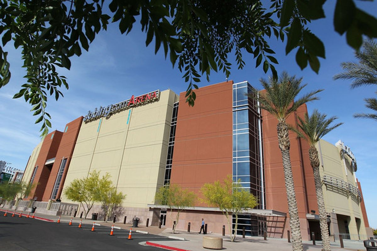 GLENDALE, AZ:  General view of Jobing.com Arena before Game One of the Western Conference Quarterfinals between the Detroit Red Wings and the Phoenix Coyotes in Glendale, Arizona.  (Photo by Christian Petersen/Getty Images)