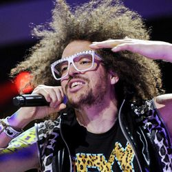 FILE - This Dec. 9, 2011 file photo shows singer RedFoo of LMFAO performing at Z100's Jingle Ball concert at Madison Square Garden in New York. Redfoo is still party rocking, but these days, he's doing it without his partner-in-fun, Sky Blu.  Redfoo says he and Sky Blu _ who is also his nephew _ are taking a break as they focus on their own interests, personally and professionally.