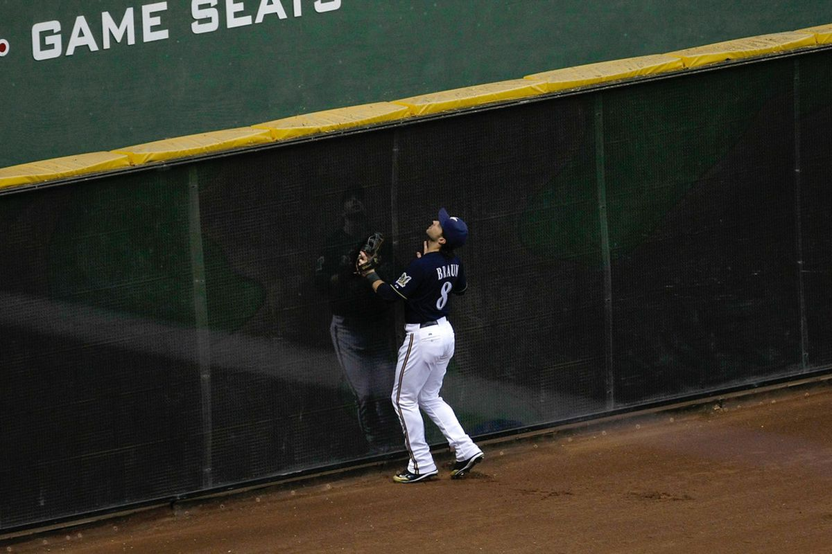 I dream of a world where someday Ryan Braun can run to the outfield wall and look up to check the P'Keggers standings.