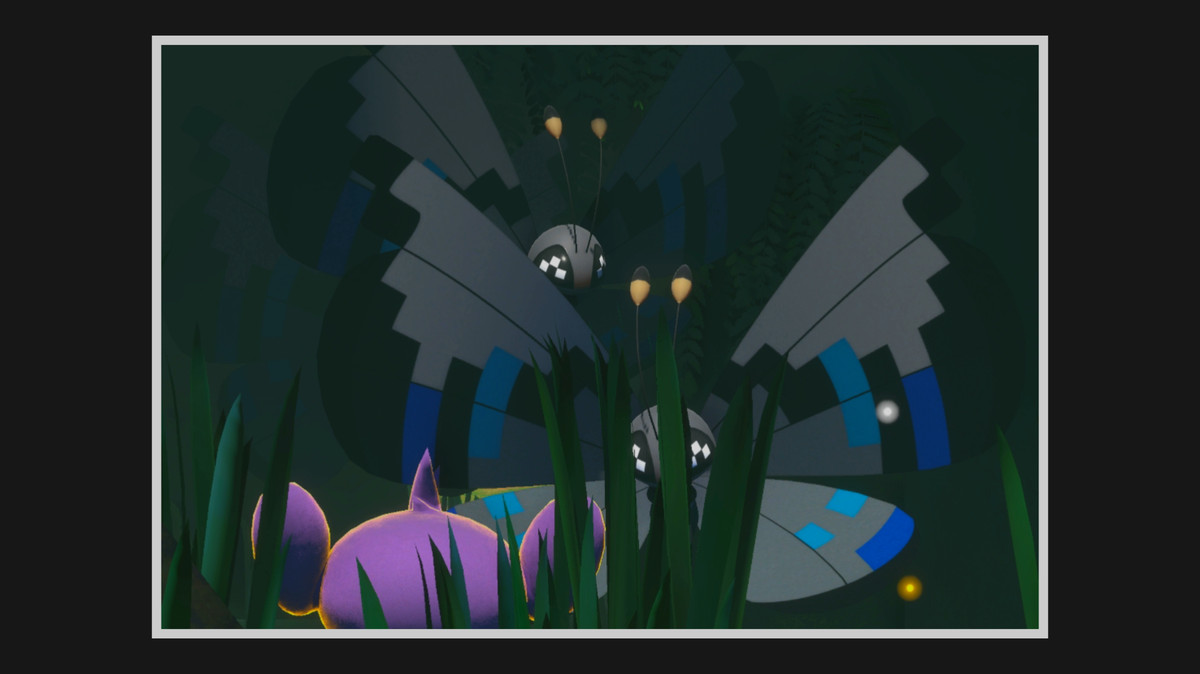 Monsoon Pattern Vivillon come out from behind cut grass