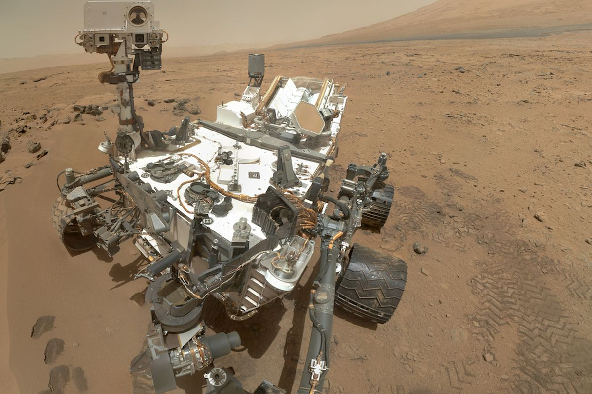 Mars Curiosity rover self-portrait