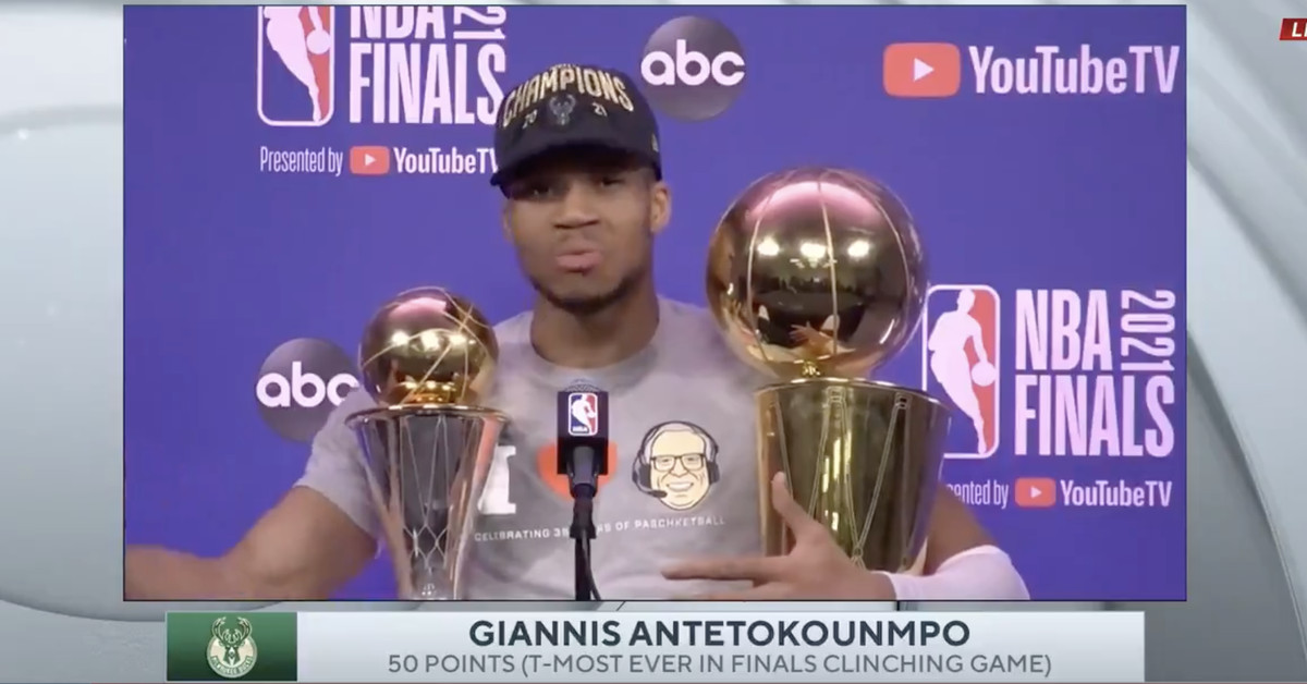 Giannis Antetokounmpo called out 'super teams' after winning an NBA