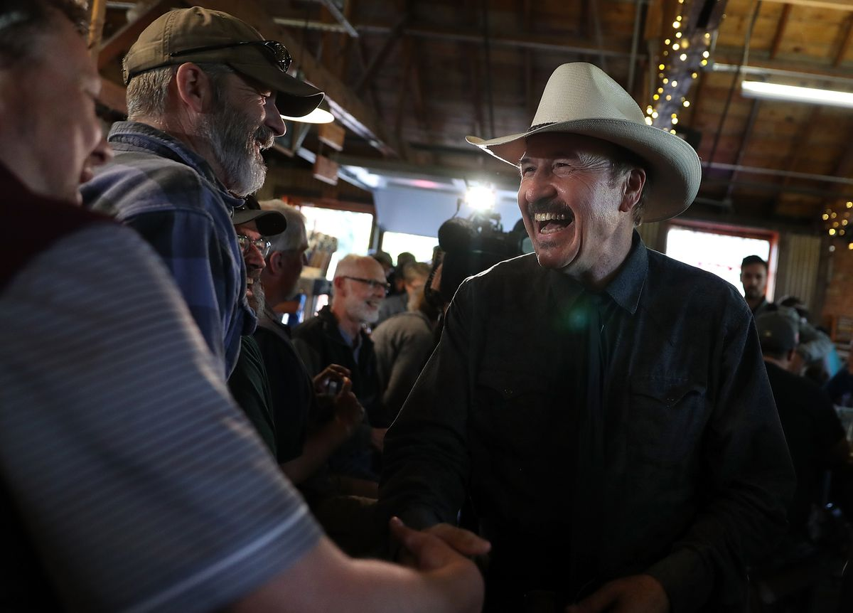 Democratic Congressional Candidate Rob Quist Campaigns In Missoula, Montana