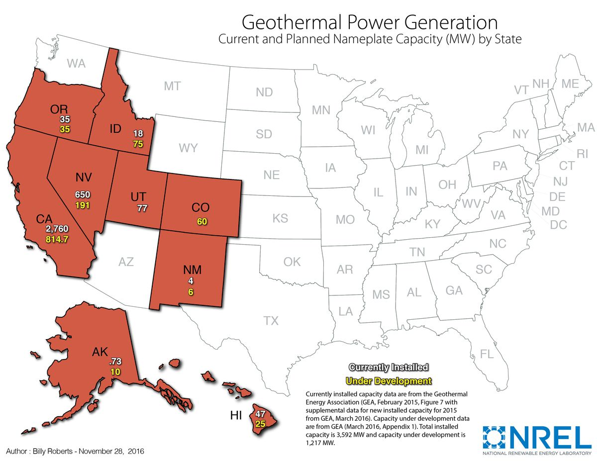 geothermal in the us today