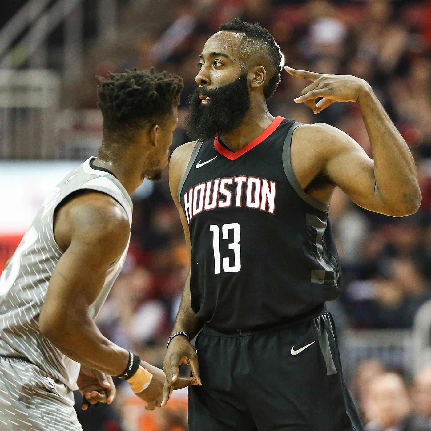 5158555fcad7 Timberwolves vs. Rockets 2018 results  James Harden scores 44 points in  narrow Houston win