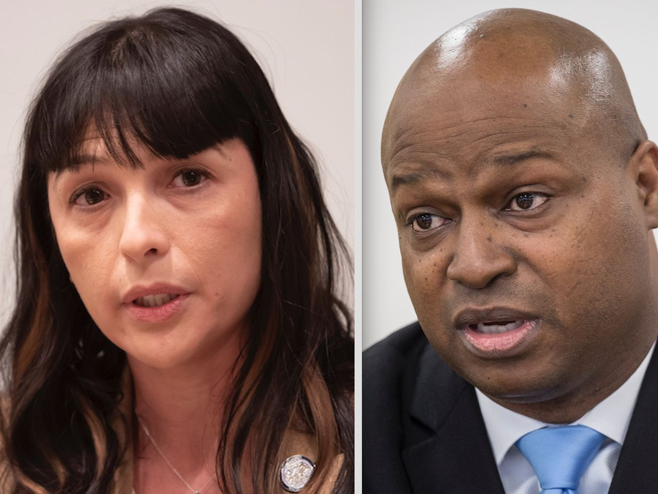 "State Rep. Eva-Dina Delgado, left; state Rep. Emanuel ""Chris"" Welch, right."