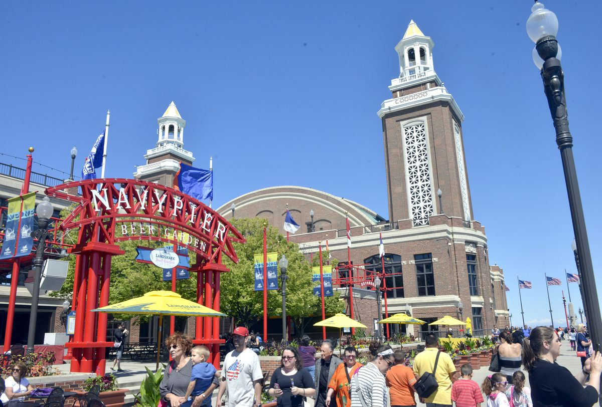 """Navy Pier needs an update from its 30-year-old """"carnival-like"""" aesthetic, Ald. Brendan Reilly said.   Sun-Times file photo"""