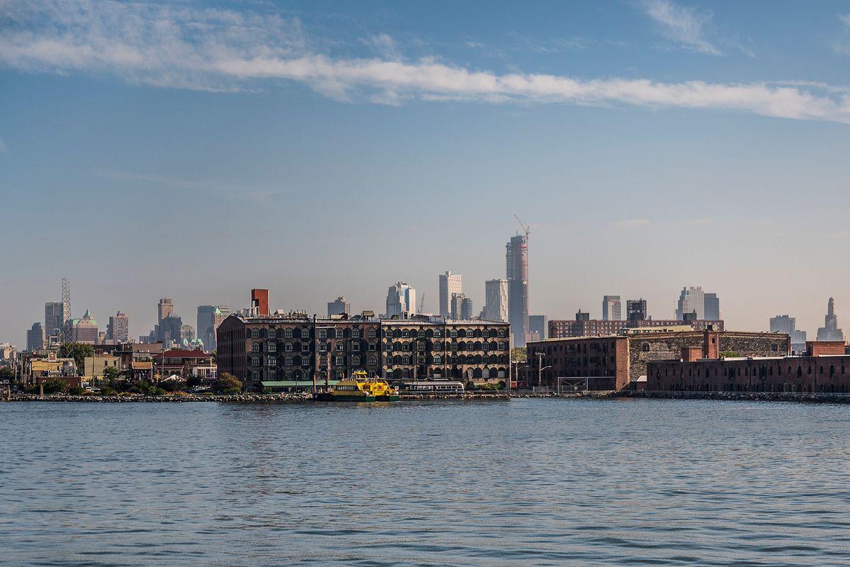 Red Hook, Brooklyn is in a flood zone, Oct. 8, 2021.