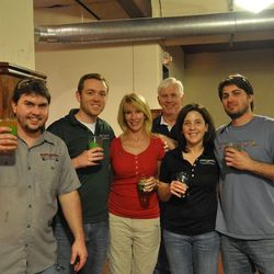 Some of the Saint Arnold crew.