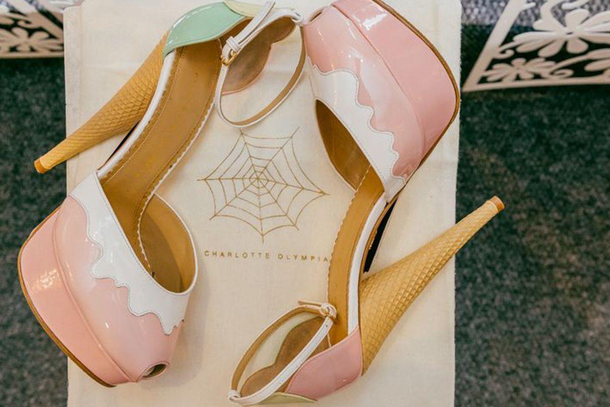 Charlotte Olympia Ice Cream ankle-strap platform sandal