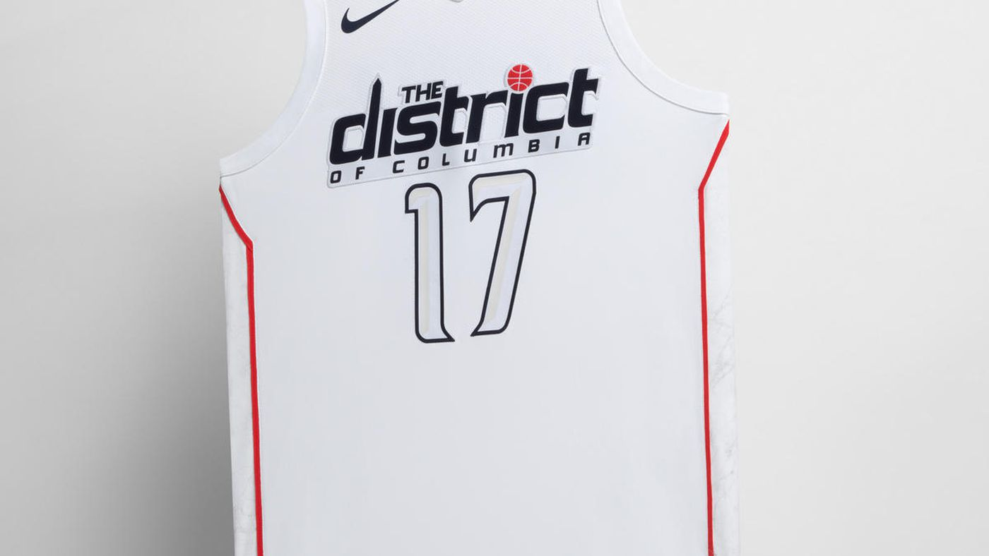 Here is the Wizards  The District  City Edition uniform - Bullets Forever 1891e83e6
