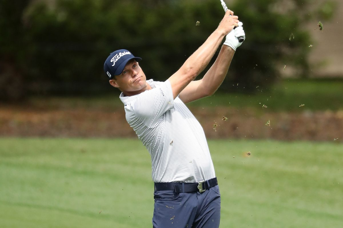 Nick Watney plays his shot from the first fairway during the second round of the 2019 RBC Heritage at Harbour Town Golf Links on April 19, 2019 in Hilton Head Island, South Carolina.