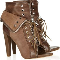 Freja eel-trimmed suede ankle boots, $272 (orig. $680)