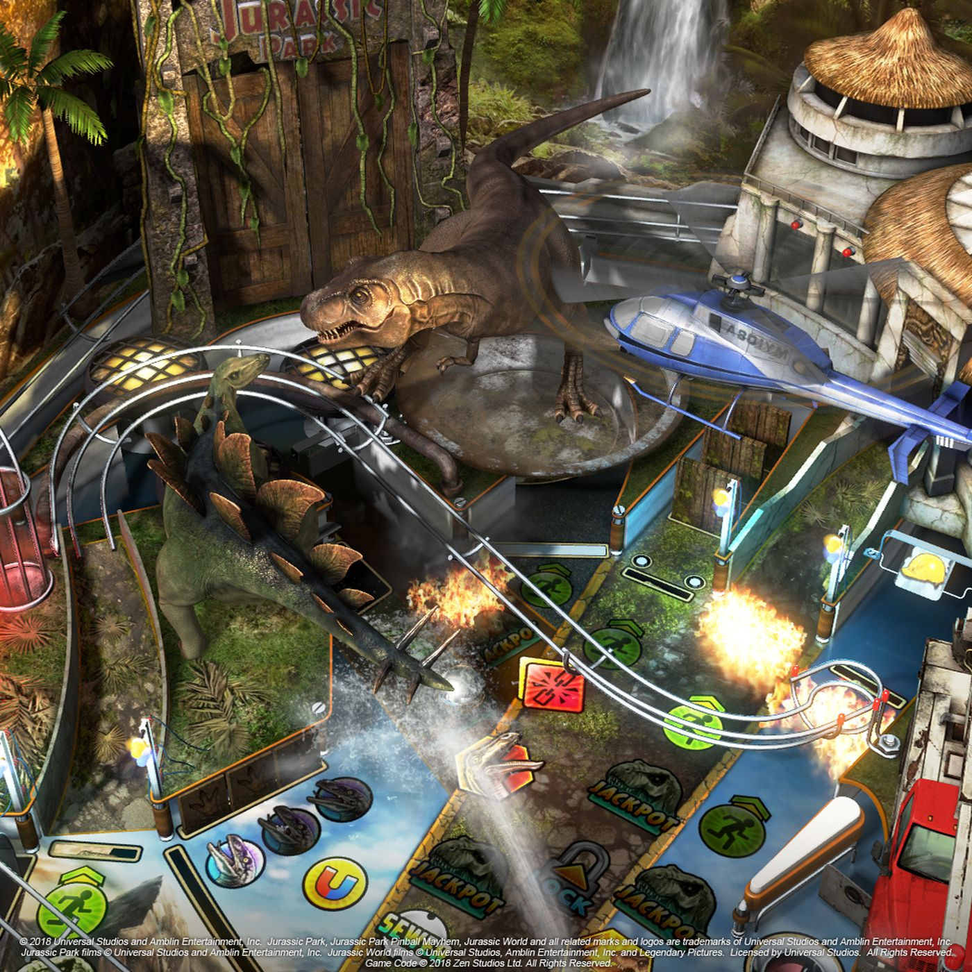 Jurassic Park Comes To Zen Pinball With Three Tables In