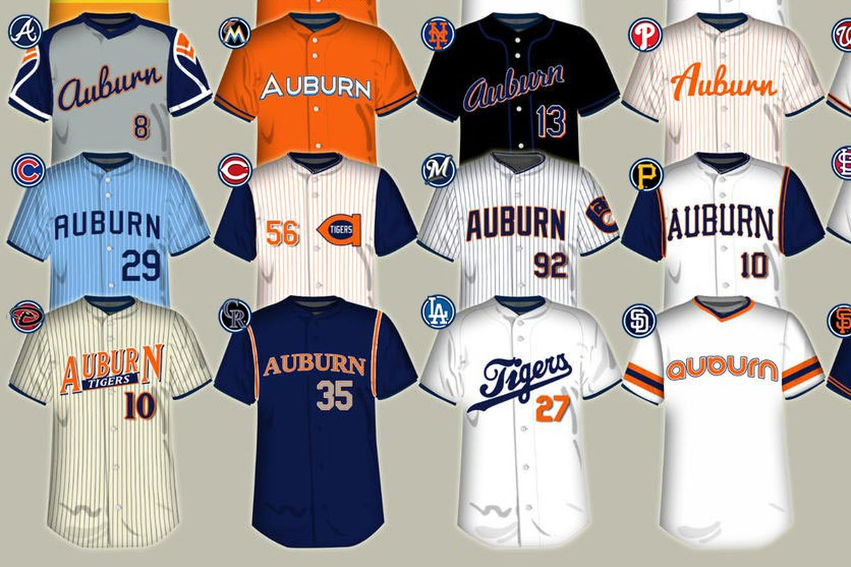 Redesigning the Auburn baseball uniform - College and Magnolia