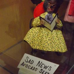 Many homemade dolls used large avocado seeds to form the head.