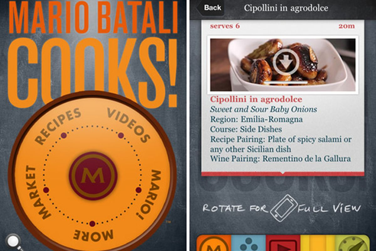 Mario batali releases iphone app mariocooks eater desc photo high five labs inc forumfinder Image collections
