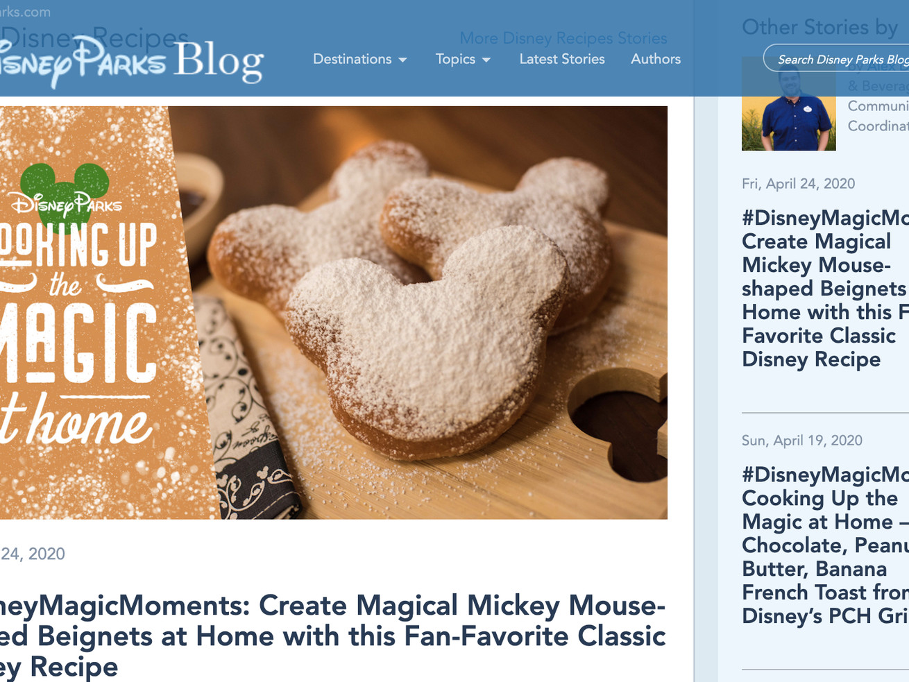 Disney released the recipe for its Mickey Mouse-shaped beignets.