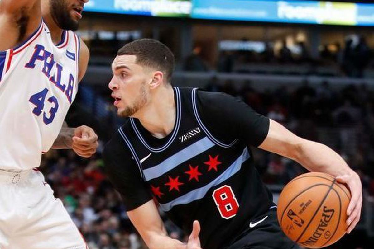 7d71f8219a8 Bulls guard Zach LaVine could sit rest of season with strained right knee