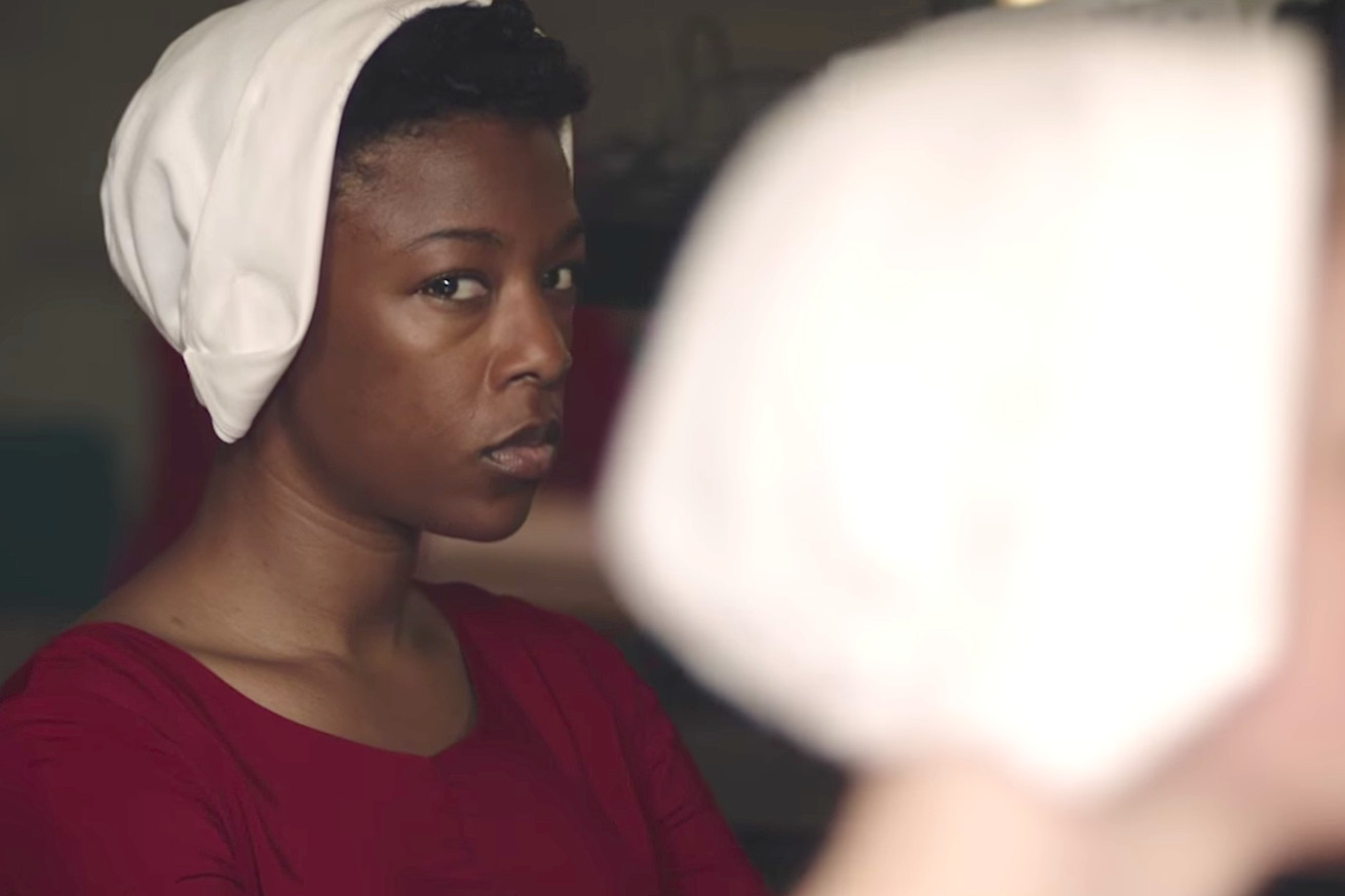 both versions of the handmaid s tale have a problem with racial erasure