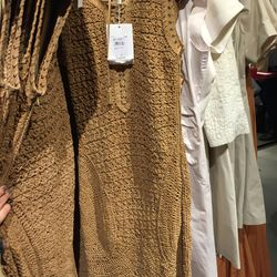 Woven leather dress, $1,845 (from $12,300)