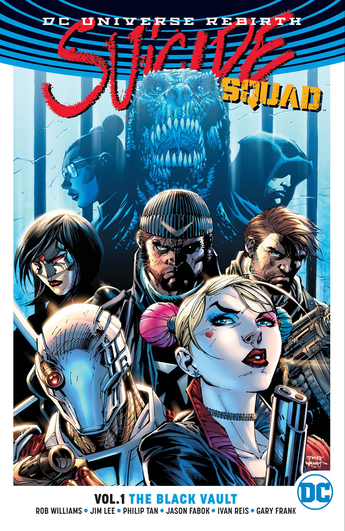 The Suicide Squad on the cover of Suicide Squad Vol. 1: The Black Vault, DC Comics (2016).