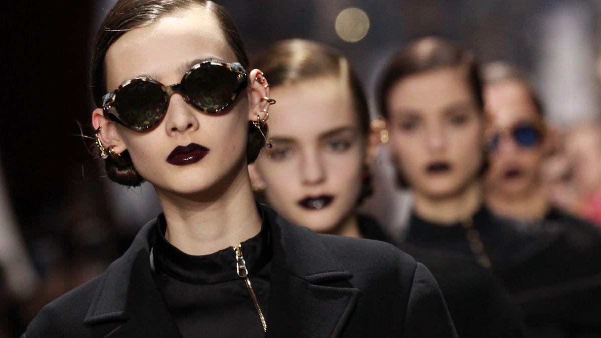 Super glossy lips at the fall 2016 Dior runway show.
