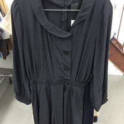 Black sample dress, $40