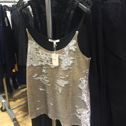7. Maje sequin tank top ($85): This is the cool-girl way to wear sequins, no?