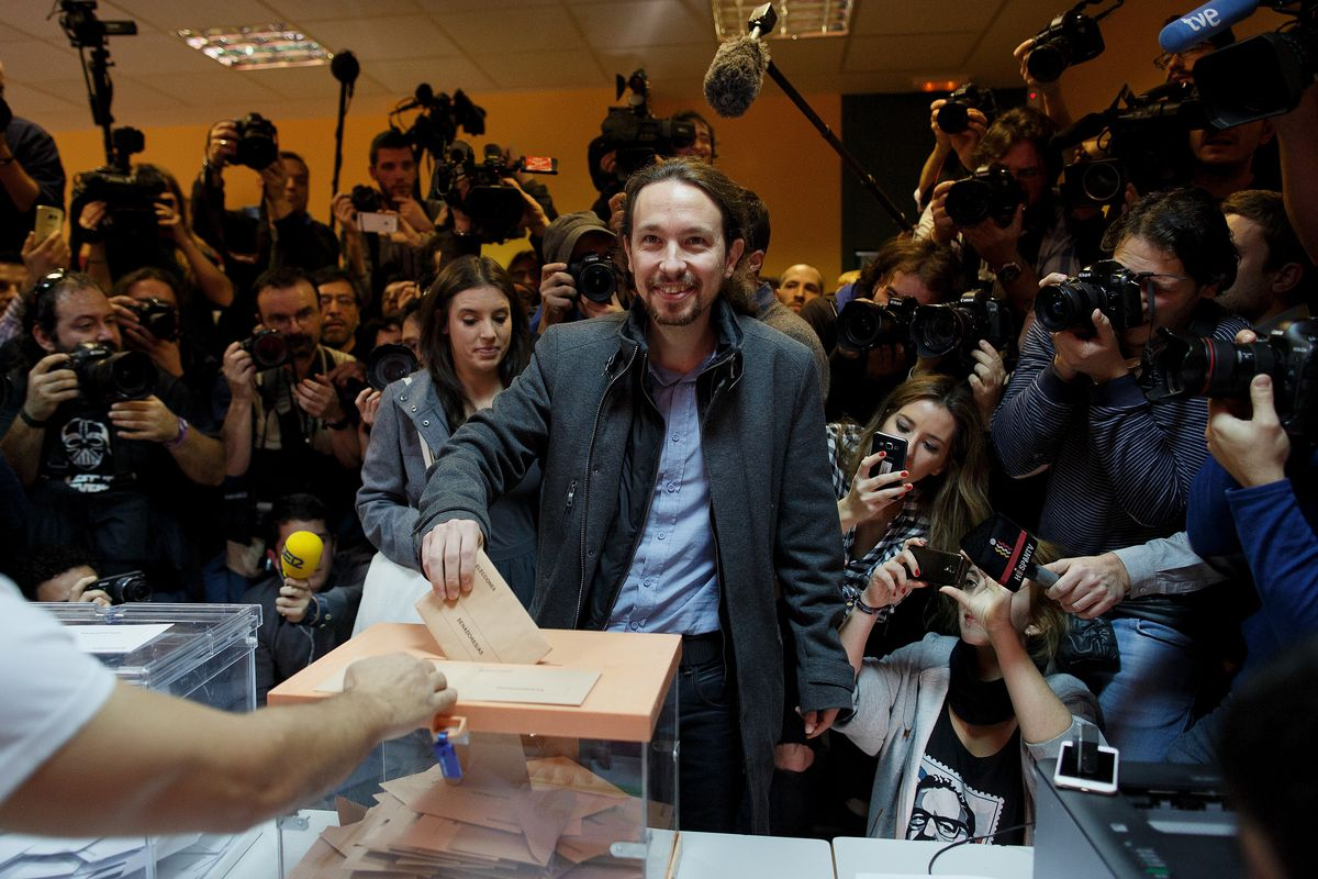 Pablo Iglesias, leader of the newly founded Podemos party, took 20 percent of the vote in recent Spanish elections.