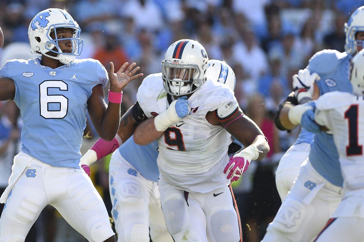 NCAA Football: Virginia at North Carolina