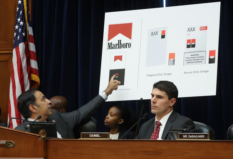 A congressional hearing on Juul's role in the youth nicotine epidemic.