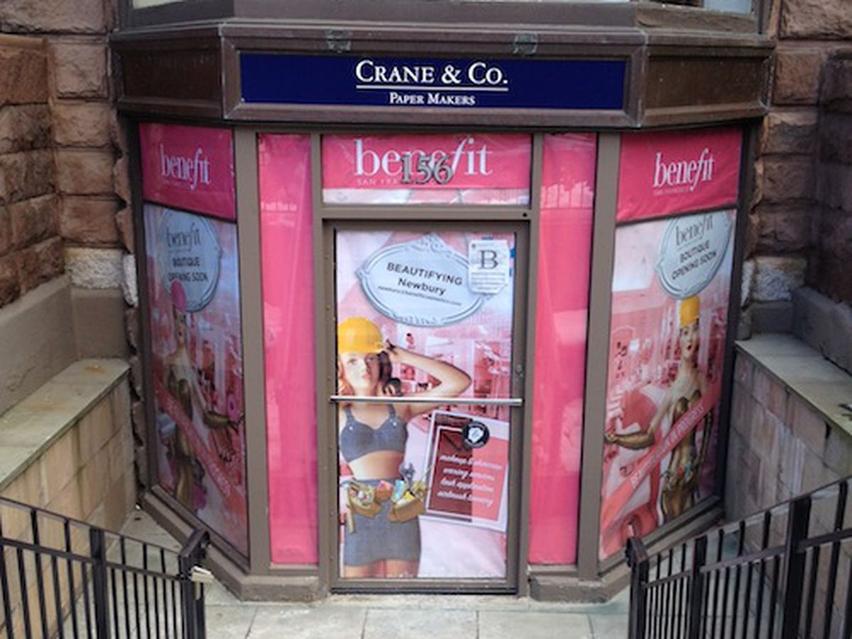 Benefit is just one of the many new stores hitting Boston